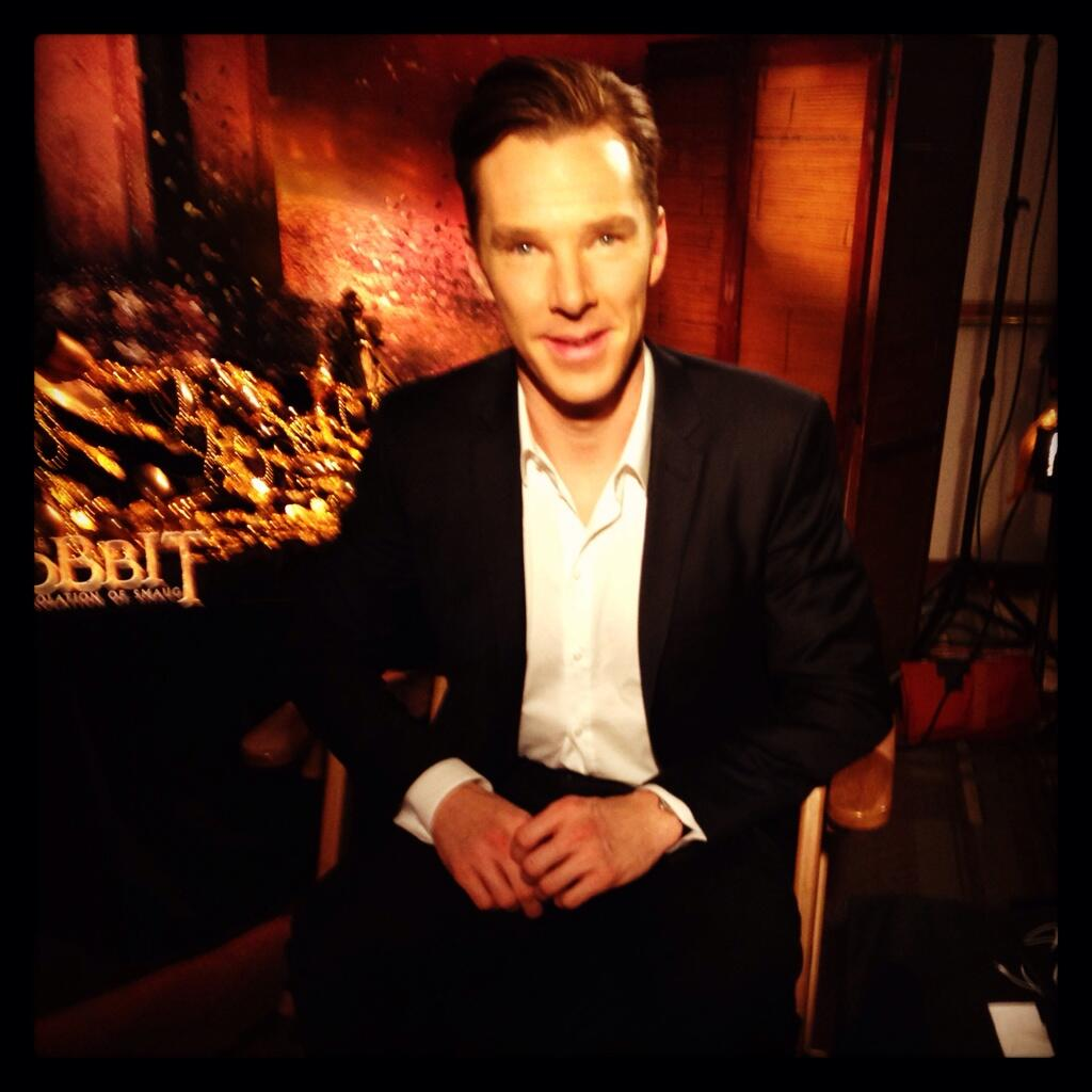 Benedict The Hobbit Press junket